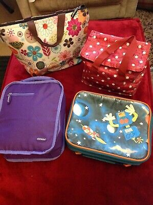 Large Bundle Of Back To Schhol Lunch Bags/Cool Bags