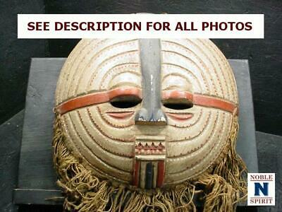NobleSpirit  NO RESERVE (3970) Intriguing Wooden African Tribal Mask
