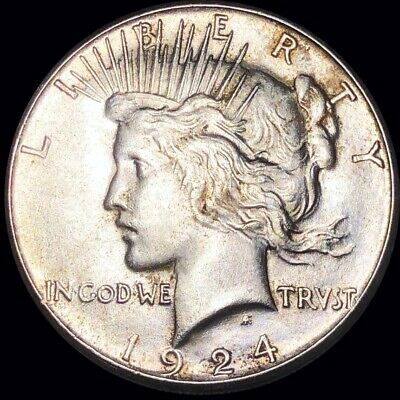 1924-S Silver Peace Dollar HIGHLY UNCIRCULATED San Francisco ms bu Collectible!!