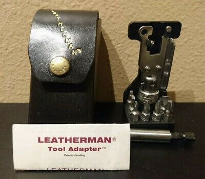 Vintage Leatherman Tool Adapter w/ Manual Leather Case Great Condition