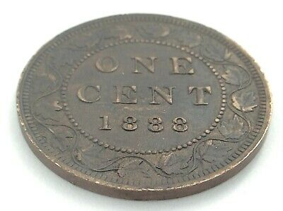 1888 Canada 1 One Cent Large Penny Victoria Canadian Coin K949