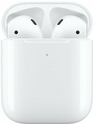 NEW Apple AirPods & Wireless Charging Case 2nd Gen 2019 White MRXJ2AM/A Genuine