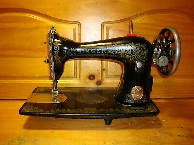 "1919 Antique Singer Sewing Machine Head Model 115 "" Gingerbread ""  ,Serviced"