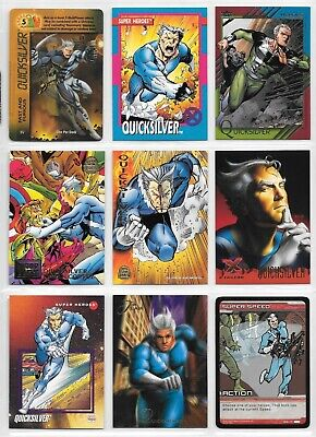 Quicksilver, Avengers, X-Men, Marvel card lot
