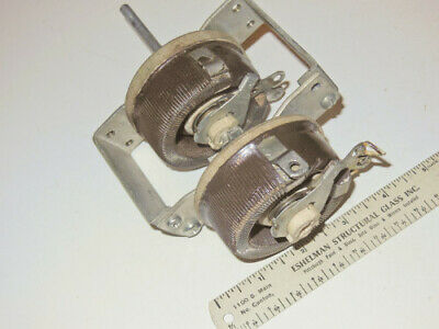 Ohmite Two Ganged 35 Ohm 1.0 Amp Wire Wound Potentiometers