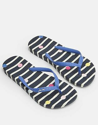 Joules Womens Flip Flops in NAVY STRIPE