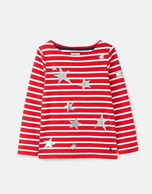 Joules Girls 207153 Festive Harbour Luxe 3 12 Years in RED STAR