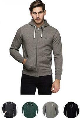 Polo Ralph Lauren Men's Classic Full-Zip Fleece Hoodie Hooded Sweatshirt