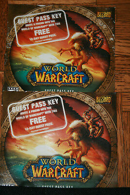 2 World of Warcraft 10 Days Free, Guest Pass Keys