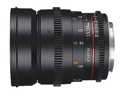 Rokinon Cine DS 24mm T1.5 ED AS IF UMC Full Frame Cine Lens f/ Sony - DS24M-S