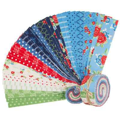 Quilting Fabric Jelly Roll - Harry And Alice X 40 Bargain Price