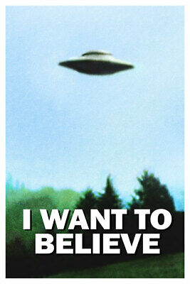 "FOTO CARTOLINA STORICA - HOT Vintage Classic X FILES ""I Want To Believe"" #001"