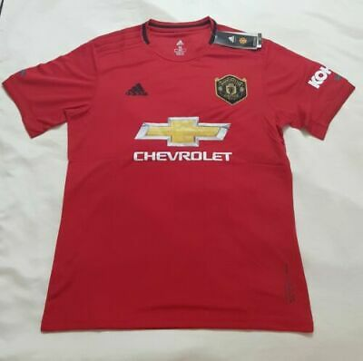 19/20 Manchester United Home Red Shirt Short Sleeve Football Jersey Tee 2019@