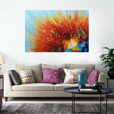 Abstract Handmade Art Canvas Oil Painting Wall Parlor Bedroom Framed - Volcanic