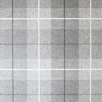 Arthouse Vintage Country Tartan Check Textured Charcoal/Grey Wallpaper 294000