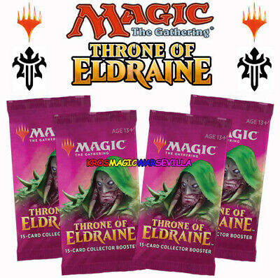 Throne of Eldraine Collector Booster OVP Sealed X 4 ENGLISH MTG MAGIC