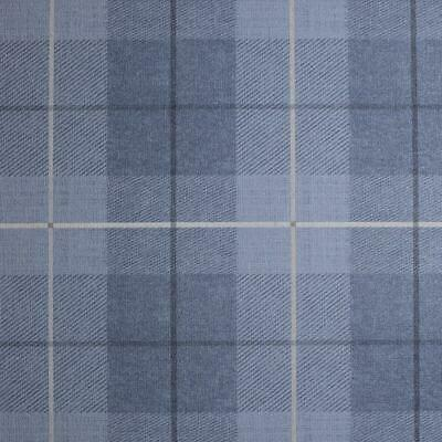 Arthouse Vintage Country Tartan Check Textured Denim Blue Wallpaper 294002