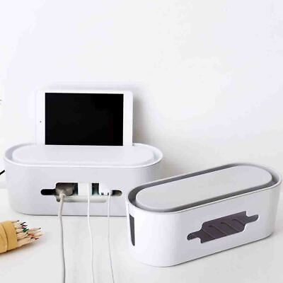 Home Multi-purpose Storage Plastic Desktop Network Plug Cable Strips Wire Box