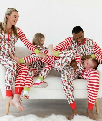 Family Patchwork Matching Women Christmas Pyjamas Xmas Nightwear Pajamas Pjs Set