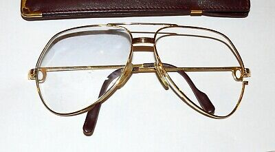 Cartier France Vendome LC L Brille Gestell 140 62 14 ohne Gläser Gold 15084