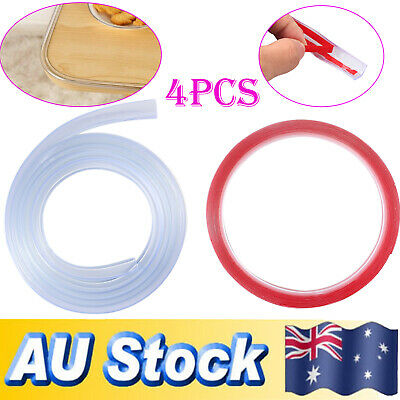 4pcs Child Baby Safe Soft Table Edge Guard Strip Silicone Corner Protection Cove
