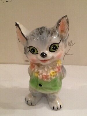 vintage kitsch cat ornament Japan htf