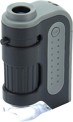 LED Lighted Pocket Microscope 60X-120X Carson Micro Brite Plus. Fast Shipping!