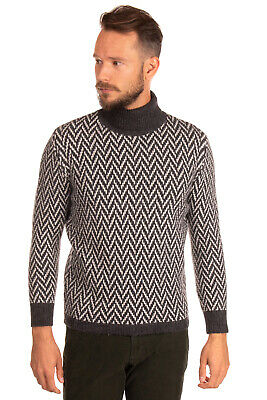 RRP €200 MESSAGERIE Jumper Size 50 / L Merino & Alpaca Wool Blend Made in Italy