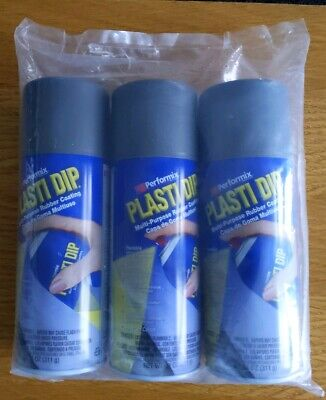 Genuine USA made PlastiDip® Aerosols Gunmetal x3 cans
