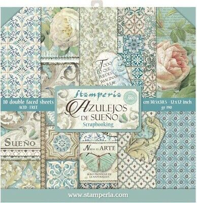 """Azulejos - Stamperia Double-Sided Paper Pad 12""""X12"""" 10/Pkg"""
