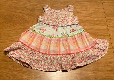 Baby Gap Girls 3-6M Multi Colored Tiered Ruffled Spring, Full Circle Dress
