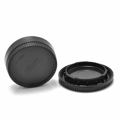 Front & Rear Body Lens Cap Cover For Nikon AF AF-S Lens DSLR SLR Camera Black