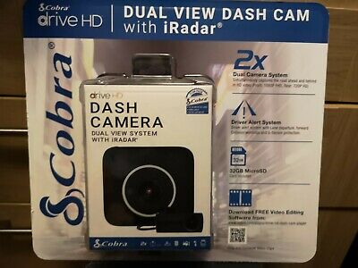 Cobra CCDC4500 Dual HD Front and Rear Facing Dash Cam NEW