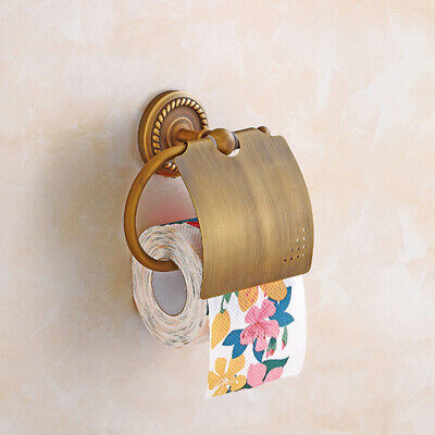 Home Copper Toilet Paper Holder Wall Mounted Hanger Bathroom Accessories Tool