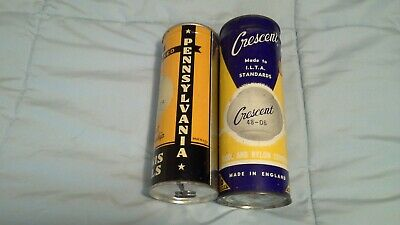 2 Vintage Unopened Keywind Tennis Ball Cans- Pennsylvania and Crescent
