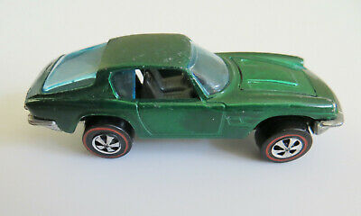 Maserati Mistral 1969 Hot Wheels Redline Green C-9- Hong Kong brown interior
