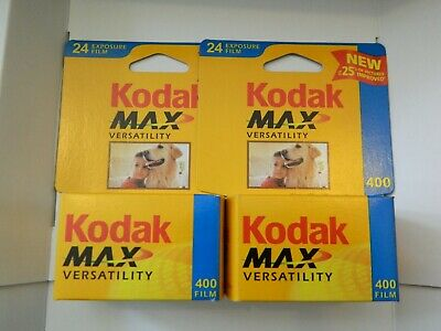 Kodak Max - iso400 Film 24 Exposures 35mm  2 Sealed Rolls New-Expired