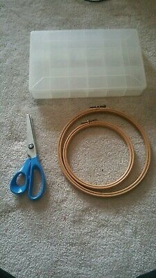 Wood Cross Stitch Embroidery Hoop Ring Sewing Frame Anchor Threads JOBLOT