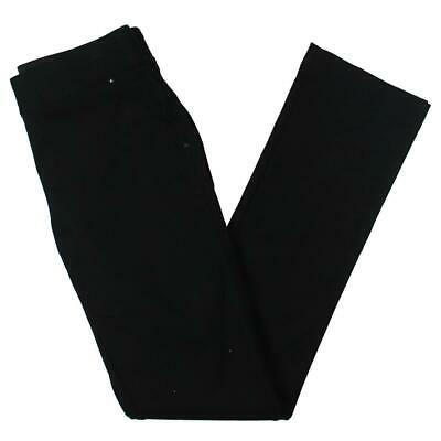 INC Womens Black Comfort Waist Pull On Everyday Straight Leg Pants 4 BHFO 9483