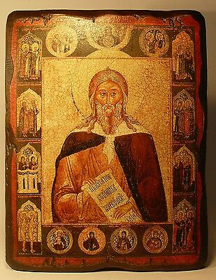 Handmade copy ancient ORTHODOX CHURCH ICON St Prophet Elijah 68M