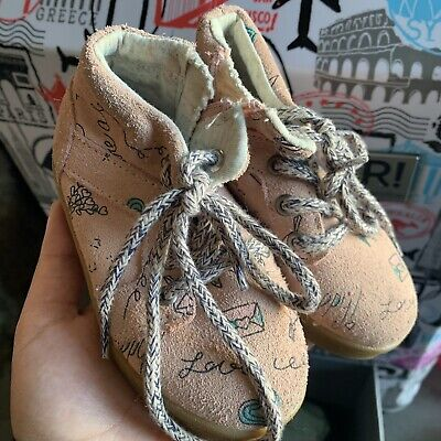 New! ZARA Toddler baby Girl leather sherpa  Shoes Size 22