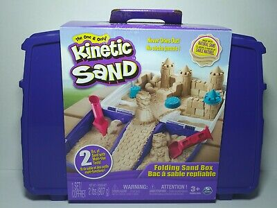 The One and Only Kinetic Sand Folding Sand Box with 2lbs of Kinetic Sand NEW