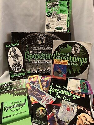 Goosebumps Official Fan Club Pack 1996 WALLET NOTEPAD BOOKMARKS TRADING CARDS +