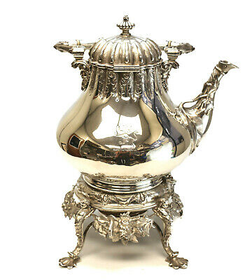 Tiffany & Co. Sterling Silver Hot Water Kettle, circa 1860 J.C. Moore & Son