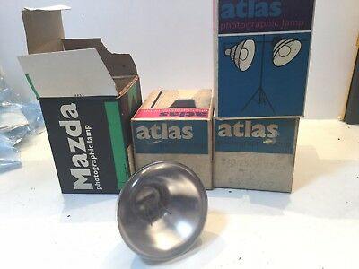Four Atlas/ Mazda. 375w Photographic Lamp ES P1/6