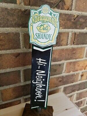 Narragansett Del's Shandy Hi Neighbor Large 13 Inch Beer Tap Handle Rhode Island