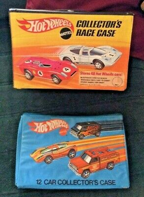 2 Vintage 1969 & 1975 Mattel Hot Wheels Redline 48 & 12 Car Collector's Case
