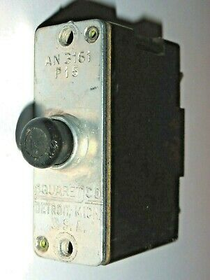 Breaker 15A AN3161-P15 Squared Co,.USA pour avion militaire WWII US