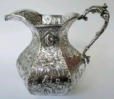RARE Early Antique Gorham Silver Plate Water Pitcher Stunning 1880's