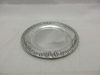 Wallace Sterling Silver Bread and Butter Plate Roses Pattern #43169